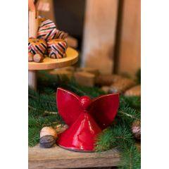 Landlust - Roter Keramik-Engel
